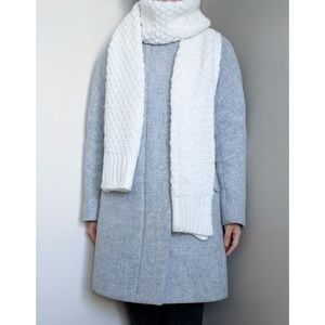 Forever 21 White Long Knit Scarf
